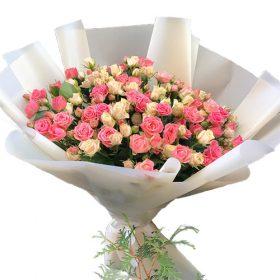 букет 33 кустовые розы
